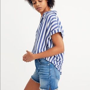 💥 Madewell Central Button Up Shirt Shea Striped